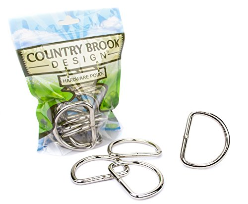 Country Brook Design - 2 Inch Heavy Welded D-Rings (10 Pack) (10k Gold Buckle Ring)
