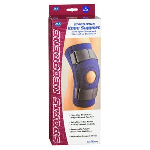 FLA Safe-T-Sport Stabilizing Knee Support, Navy, Medium by FLA   B00011CQ82