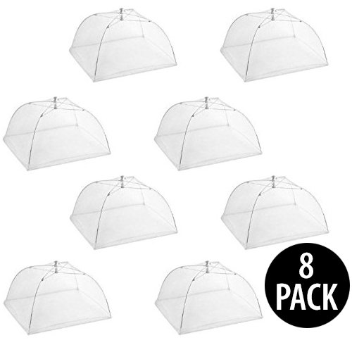 Pop Up Food Covers - KOVOT Pop Up Mesh Screen Food Cover (8 Food Covers)