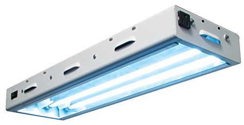 Sun Blaze T5 Fluorescent - 2 ft. Fixture | 2 Lamp |120V - Indoor Grow Light Fixture for Hydroponic and Greenhouse ()