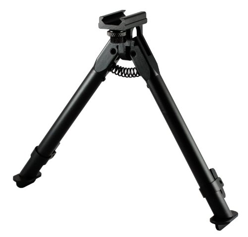 AIM SPORTS AR Handguard Rail Bipod-Short (Black, Medium)