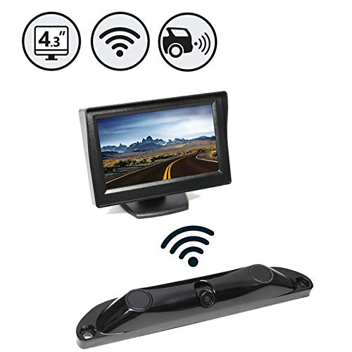 Rear View Safety Wireless Backup Camera System with Built-In Sensors, (Wireless Backup Sensor)