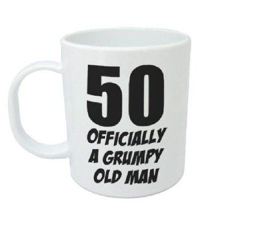 50 Officially a Grumpy Old Man Funny Novelty 50Th Birthday Ceramic Mug, White Acen Merchandise MUG608