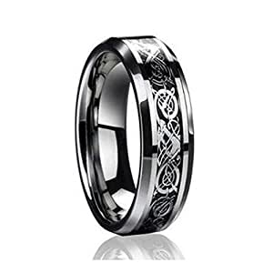 dragon wedding ring 6mm design tungsten carbide wedding and 3678
