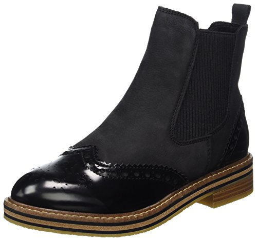 MARCO TOZZI premio Women's 25812 Chelsea Boots, Mocha Black (Black Ant.comb 096)