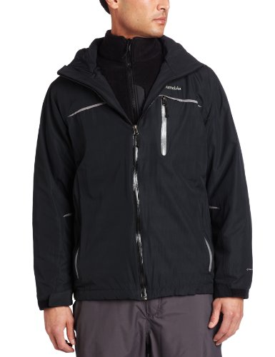 Columbia Men's Split Immersion Parka, Black/Black/Sedona Sage, X-Large - Mens Bugaboo Parka