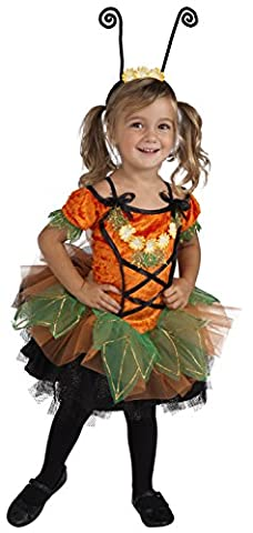 Rubie's Costume Co Deluxe Pumpkin Patch Pixie Costume, Orange, Toddler (The Pixies Deluxe)