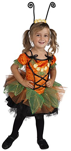 Rubie's Costume Co Deluxe Pumpkin Patch Pixie Costume, Orange, Toddler