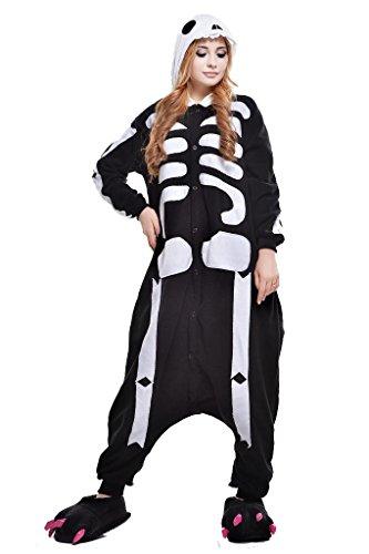 Newcosplay Unisex Skeleton Pyjamas Halloween Costume (M) ()