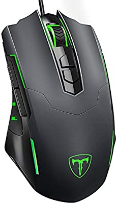 Gaming Mouse Wired 7200 DPI Programmable Breathing Light Ergonomic USB Computer