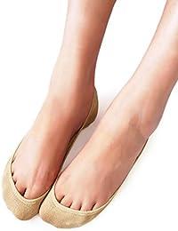 VERO MONTE 4 Pairs Womens No Show Socks Low Cut - Non...