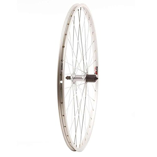 (Wheel Shop, Rear 700C Wheel, 36H Silver Alloy Single Wall Alex X101, Shimano FH-RM70 QR 8-10spd Cassette Hub, Steel Spokes)