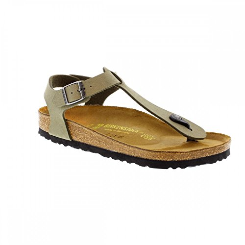 BIRKENSTOCK Kairo Womens Khaki Birko-Flor Thongs 39 EU (6-6.5 R US Men/8-8.5 R US Women) (Birkenstock With Heel Strap)