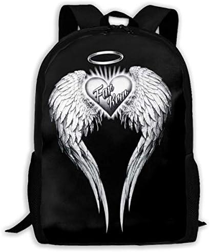BGNHG Angel Wings Erwachsener Rucksack in voller Größe, wasserdichter Outdoor-Reiserucksack