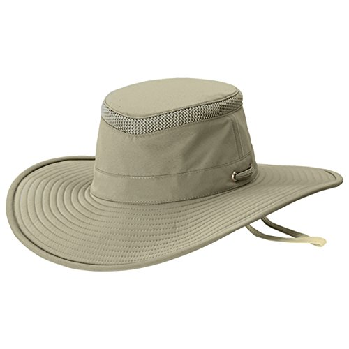 Tilley Unisex LTM2 Broadest Brimmed Sun Protection Airflow Hat, 7 1/8 or 22 3/8 in., Khaki w/ Olive Underbrim