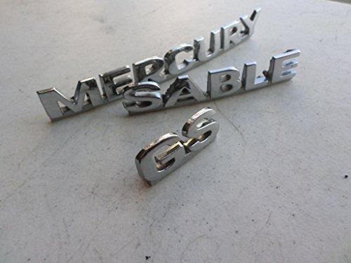 00-03 Mercury Sable Gs Rear Trunk Chrome Emblem YF42-16702-DC Logo YF4Z-16098-Ca Set of 3 -
