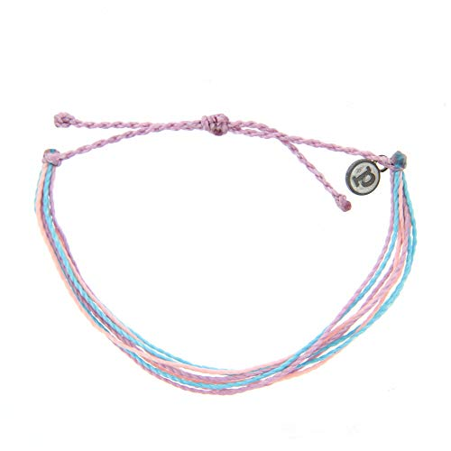 (Pura Vida Jewelry Bracelets Bright Bracelet - 100% Waterproof and Handmade w/Coated Charm, Adjustable Band (Ocean Sunrise))