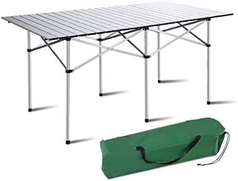 Mesa plegable portátil Costway de aluminio para acampar o hacer un ...