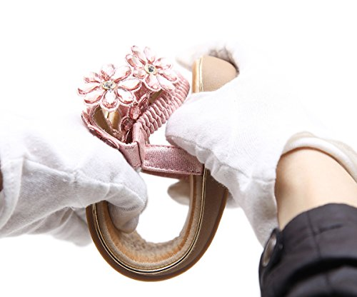 Sexy Shoes Ubeauty Non Sandals Women's Bohemia Comfortable Slippers Flower Thong Leather beige Beautiful Summer slip Soft qwqvxAOr