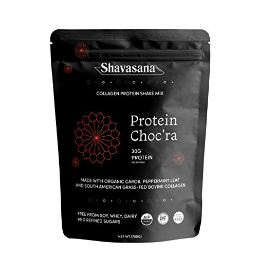 Shavasana – AIP Paleo Collagen Protein Shake Mix – Protein Choc'ra – 24.69 oz For Sale