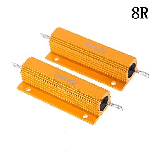 Resistance Meters - 2pcs 100w Watt Shell Power Aluminum Housed Case Wirewound Resistor 8ohm 8r Low - Resistor Ohm 8ohm 470r Resistor Ohm 50w Pot 100w Woofer Power Resistor 100w 100w 4 Watt 5 Re