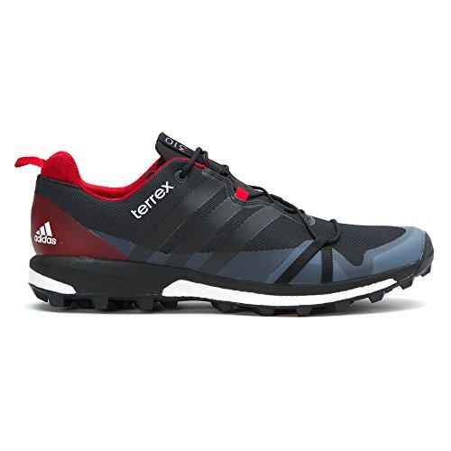 Adidas Outdoor Uomo Terrex Agravic Grigio Scuro / Nero / Rosso Potere Sneaker 13 D (m)