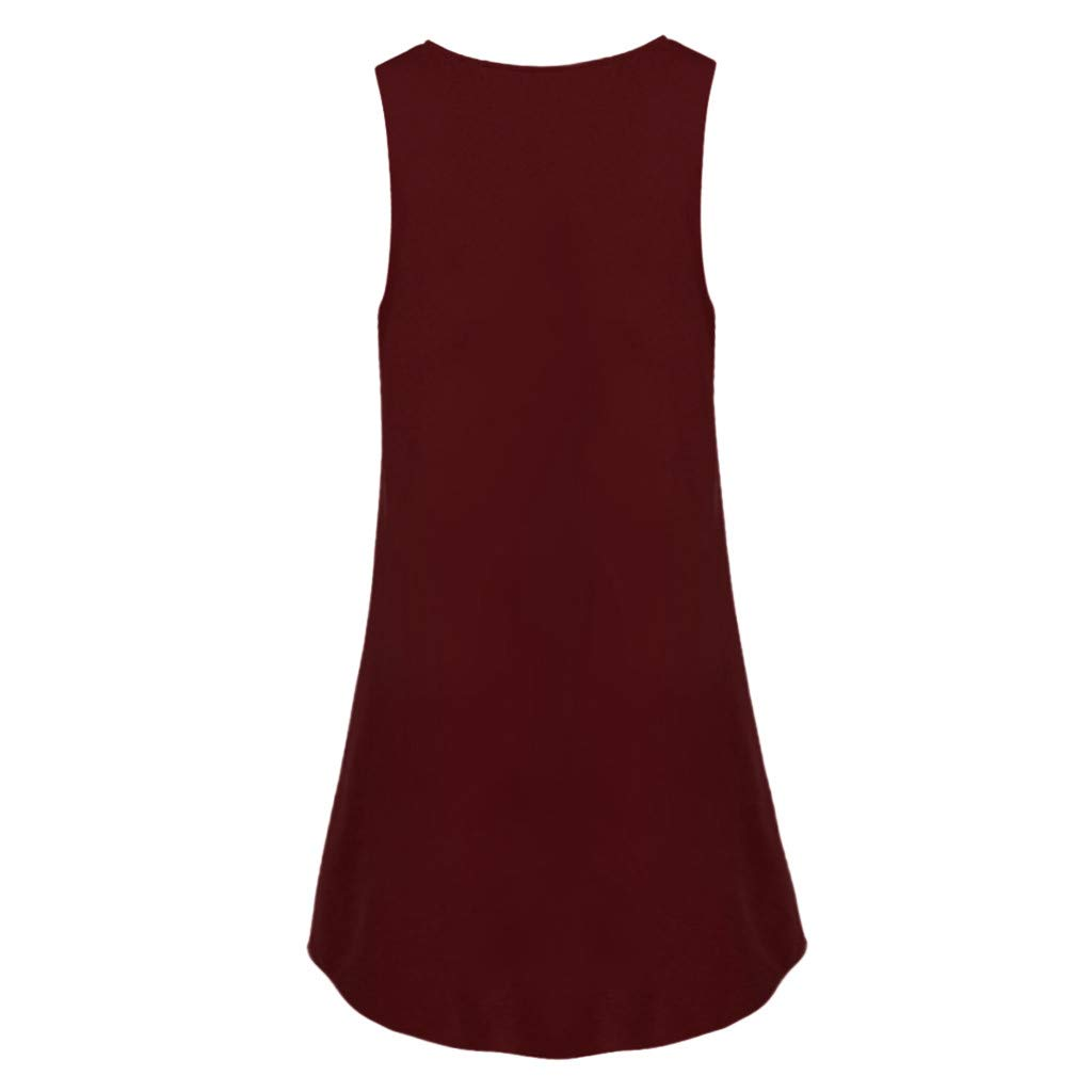 AIEson Casual Button Sleeveless Skirt Womens O Neck Above Knee Dress Lady Solid Color Loose Party Mini Dress Belt Pocket