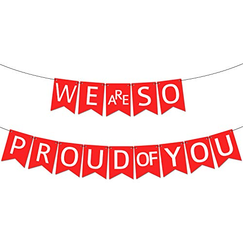 We are so Proud of You Graduation Banner