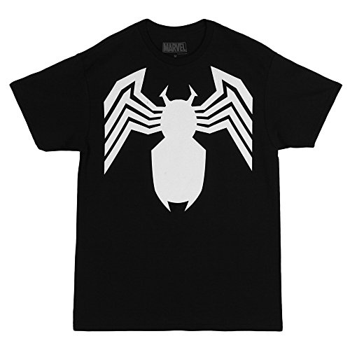 Comic Gwen Stacy Costume (Spider-Man Venom Black Costume Logo Adult T-Shirt - Black)