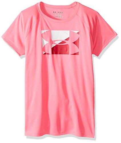 破壊へこみ魅力的(アンダーアーマー)UNDER ARMOUR ガールズビッグロゴTシャツ(Tシャツ/GIRLS)[1290288]