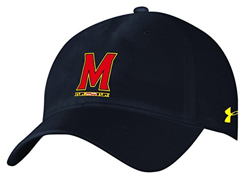 (Under Armour NCAA Maryland Terrapins Adult Women NCAA Women's airvent Adjustable Cap, One Size, Black)