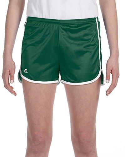 Russell Athletic de mujeres Dazzle corto Verde oscuro/Blanco