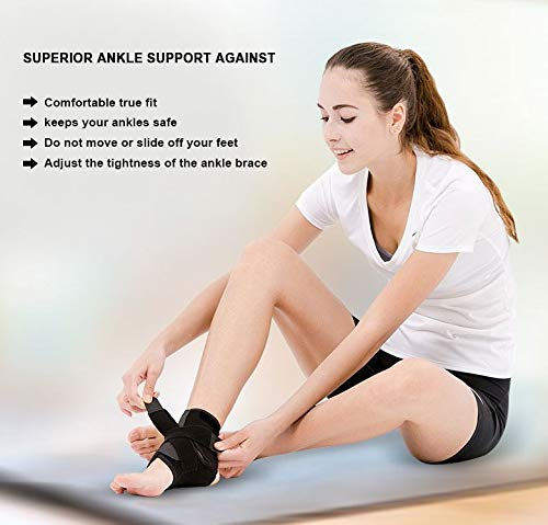 Vicious Teknology Ankle Brace,Ankle Support Ankle Protection from Strain in Fitness Equipment,Running Exercise,Hiking Camp,Ping Pong,Badminton for Men /& Women,Sold as Single Unit