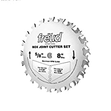 Freud SBOX8 Box Joint Cutter Set, Cuts 1/4-Inch and 3/8-Inch Grooves