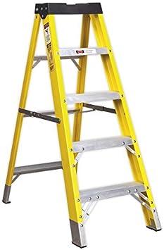 Sealey FSL5 - Escalera (Fibra de Vidrio, 4 peldaños, Cumple la Norma EN 131): Amazon.es: Bricolaje y herramientas