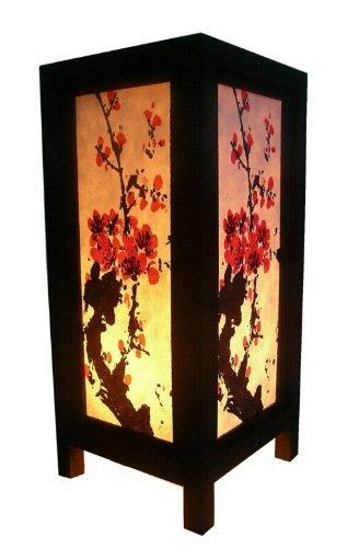 Thai Vintage Handmade ASIAN Oriental THAI-CAMBODIA BUDDHA Styles Art Bedside Table Lamp Lighting Shades by Thai Lanna Lump