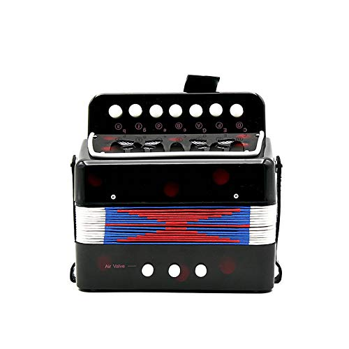 1PC Mini Kids Accordion 7-Key 3 Bass Educational Childrens Beginner Practice Music Instrument Band Toy by Quannaus (Image #2)