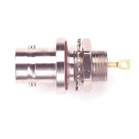 Pomona 4159 BNC Female Bulkhead Receptacle, 50 ohms Nominal Impedance, 1.24
