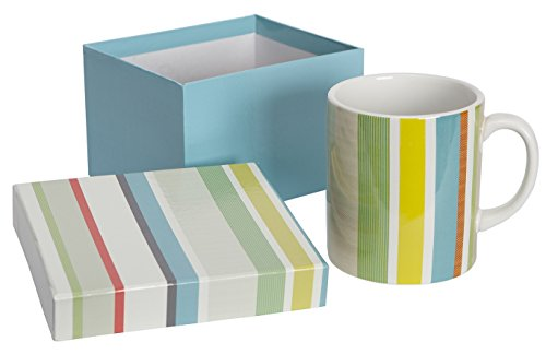 C.R. Gibson 14 oz Porcelain Coffee Mug, Gift Boxed, Dishwasher & Microwave Safe, Measures 3.5