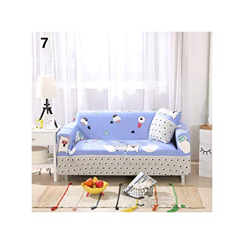 Price comparison product image MATERIALAL Striped GeoPrinting Spandex Stretch Slipcovers Sofa Cover Elastic All Inclusive Sectional Case Cover for Living Room, 07, 235X300Cm