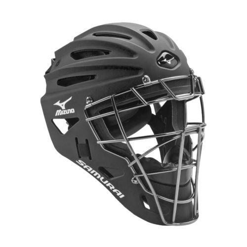Mizuno G4 Samurai Catchers Helmet, Black by Mizuno