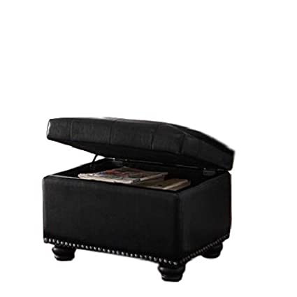 Surprising Amazon Com Gt Royal Storage Ottoman Black Upholstered Stool Gmtry Best Dining Table And Chair Ideas Images Gmtryco