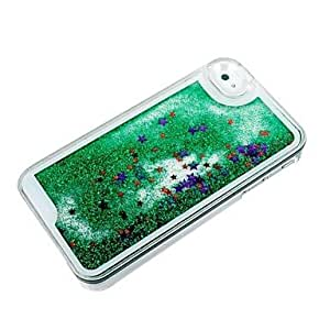 LCJ Novelty Creative Twinkling Star and Drift Sand PC Material Hard Case for iPhone 4/4S (Assorted Colors) , Green