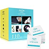 7. Lens Cleaning Wipes, Anti-Fog Glasses Cleaners Pre-moistened and Non-Scratching Eyeglass Wipes for Eyeglasses, Tablets, Camera Lenses, Screens, Keyboards and Other Delicate Surfaces - 110 Individually
