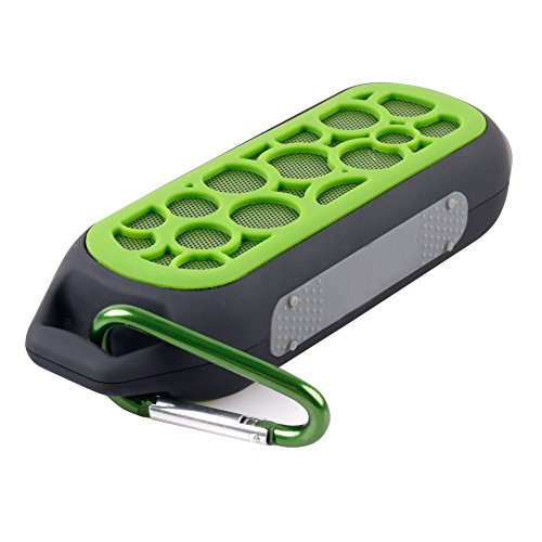 Semlos Wireless Bluetooth Speaker Portable Waterproof Outdoor Speaker Music Box Rechargeable Hands Free Calls Speaker With Fm Radio Green