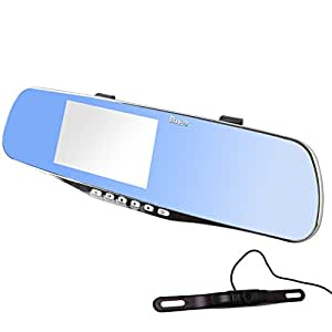 buyee rear view mirror dual car camera dvr backup camera. Black Bedroom Furniture Sets. Home Design Ideas