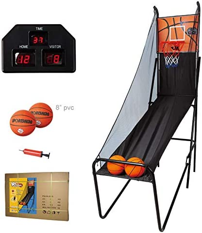 屋内バスケットボールシステム、シューティングマシン折りたたみ式、電子スコアリング機能付きスコアリングバスケットボールスタンド、2つの8イ