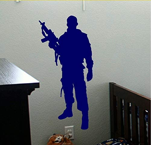 Wuyyii Soldado Del Ejército Militar Etiqueta De La Pared Pistolas ...
