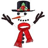 TOYMYTOY Snowman Kit Snowman Decorating Kit 15Pcs Snowman Making Kit Winter Toys Decoration
