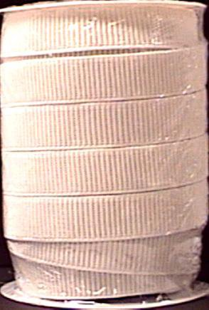 """Non-Roll Ribbed Elastic 1""""X30yd-White"""